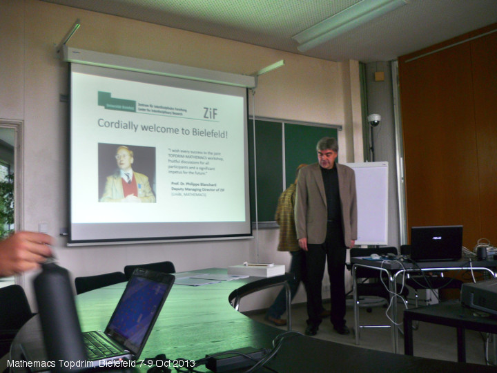Dima Volchenkov opens the Mathemacs Topdrim Meeting